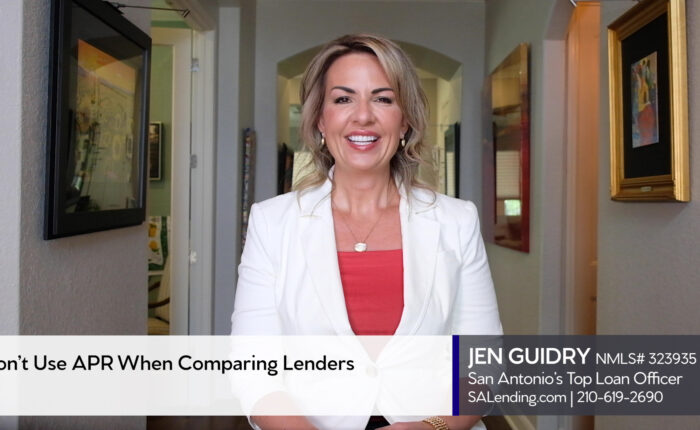 This image shows Jen Guidry as she explains how to choose a lender